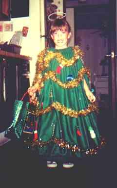 Christmas Tree Halloween Costume & Christmas Tree Halloween Costume Idea With Directions