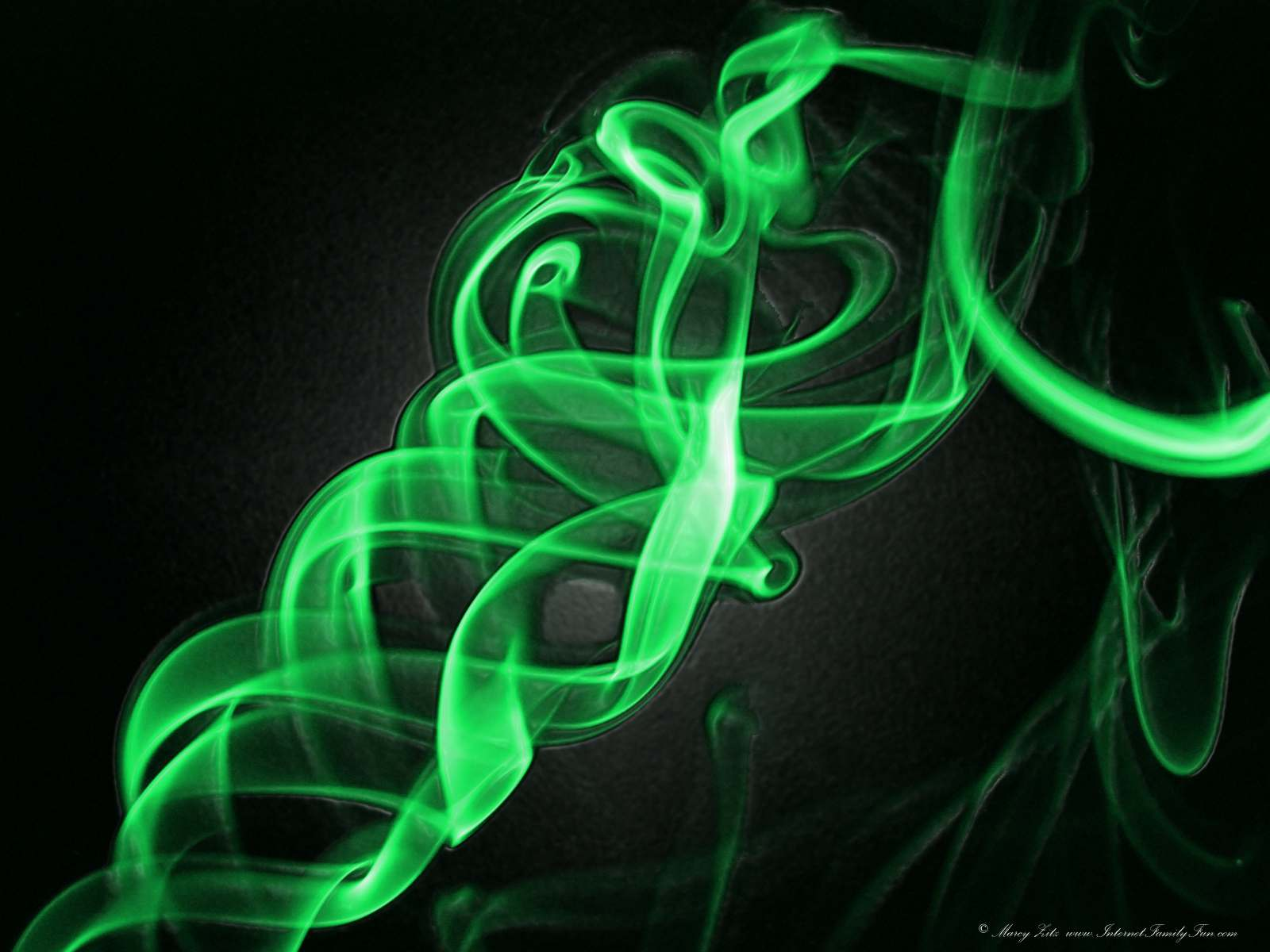 Abstract Green Twirl Wallpaper Background for Desktop